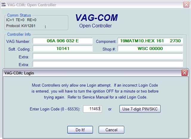 Login Code Skoda Fabia Combi 2008 Diagnostics Amp Vcds